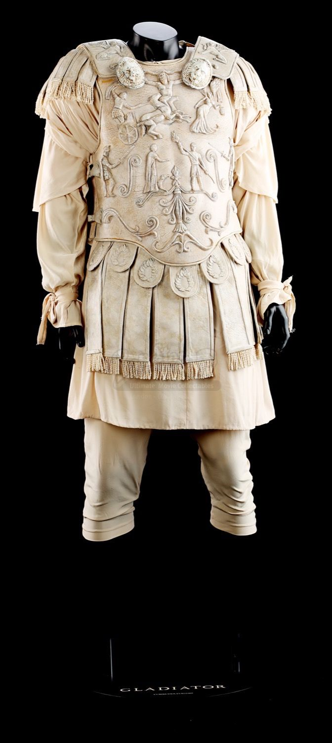 Today's throwback prop is a look back at the amazing Commodus (Joaquin Phoenix) Arena Costume from Ridley Scott's historical epic Gladiator (2000) that was sold in Live Auction back in 2015!  #Commodus #JoaquinPhoenix #Gladiator #Costume #TBT #PropStore