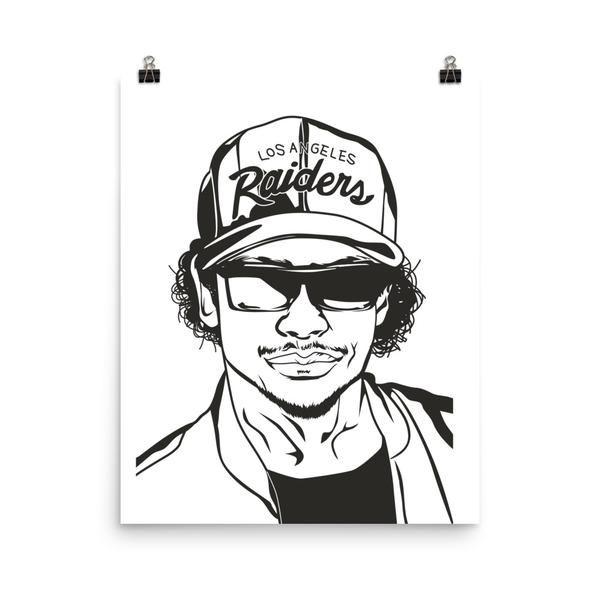 Eazy E Nwa Art Poster 8x10 To 24x36 Eazye Losangeles In 2020 Poster Art Art Poster Prints