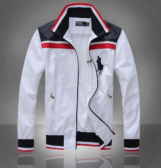 White jakcet big pony 2012 polo ralph lauren Men jacket