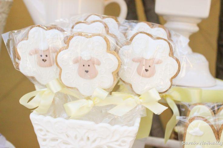 Cookies Chá de Bebê Ovelhas no Jardim
