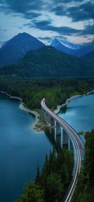 'Into the Mountains' Lake Sylvenstein, Bavaria, Germany ~~by Fabian Vogl~~