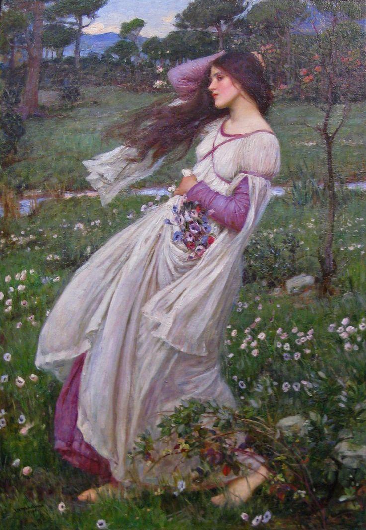 John William Waterhouse, 'Windflowers' (1903)