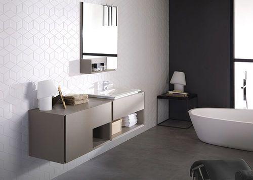 Armarios De Baño Porcelanosa:Mueble de lavabo moderno / de madera / suspendido / con armario