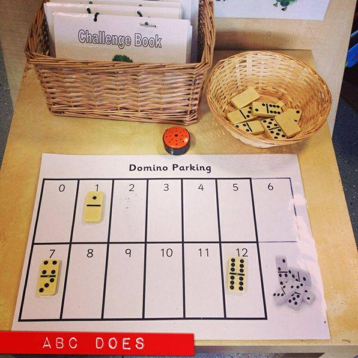 Maths domino challenge area