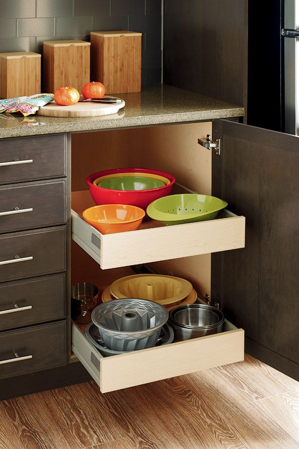 Slide Out Trays Are Essential In Kitchen Organization Keeping Contents Securely In Place W Kitchen Furniture Design Thomasville Cabinetry Kitchen Organization