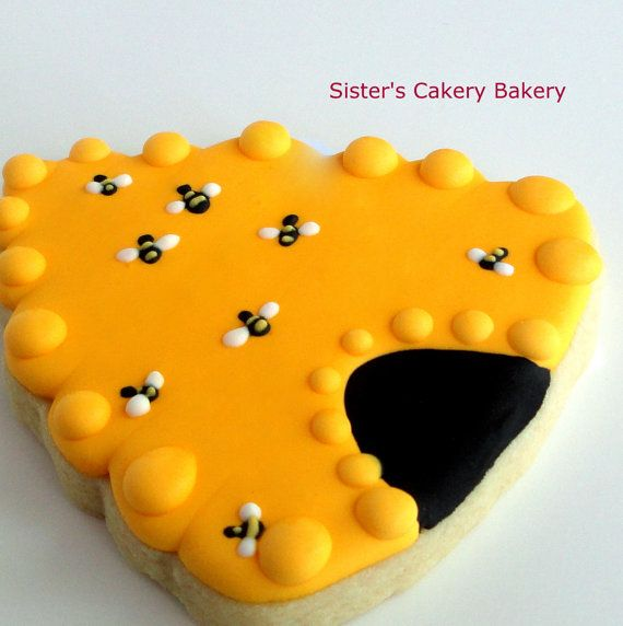 Too cute!  Beehive Cookies 1 dozen by SistersCakeryBakery on Etsy, $20.00