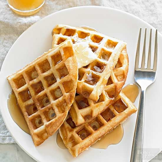 Put away the frozen waffles! If you've been putting off learning how to make waffles at home, now's the time. It takes just 15 minutes to create fluffy, flavorful waffles with just the right amount of crisp. And don't stop at basic butter and syrup -- we love making our waffles savory or adding tasty toppers to keep things interesting. /