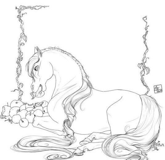 Mejores 443 imágenes de Coloring Horses en Pinterest | Caballos ...