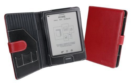 Cover-Up Kobo eReader Touch Edition Cover Case (Book Style) - Red by Cover-Up. $15.67. A stylish red cover made from high quality animal friendly synthetic leather to protect your Kobo eReader Touch Edition. The lightweight case is contoured to perfectly fit the Kobo's smooth, rounded edges.  You can read with the cover on and can easily access the Kobo's navigation features and power switch, while still enjoying a perfect fit in your hands. Useful features include thr...
