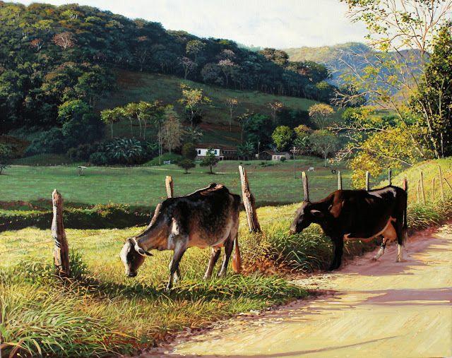 ALFREDO VIEIRA - Animais na estrada - Óleo