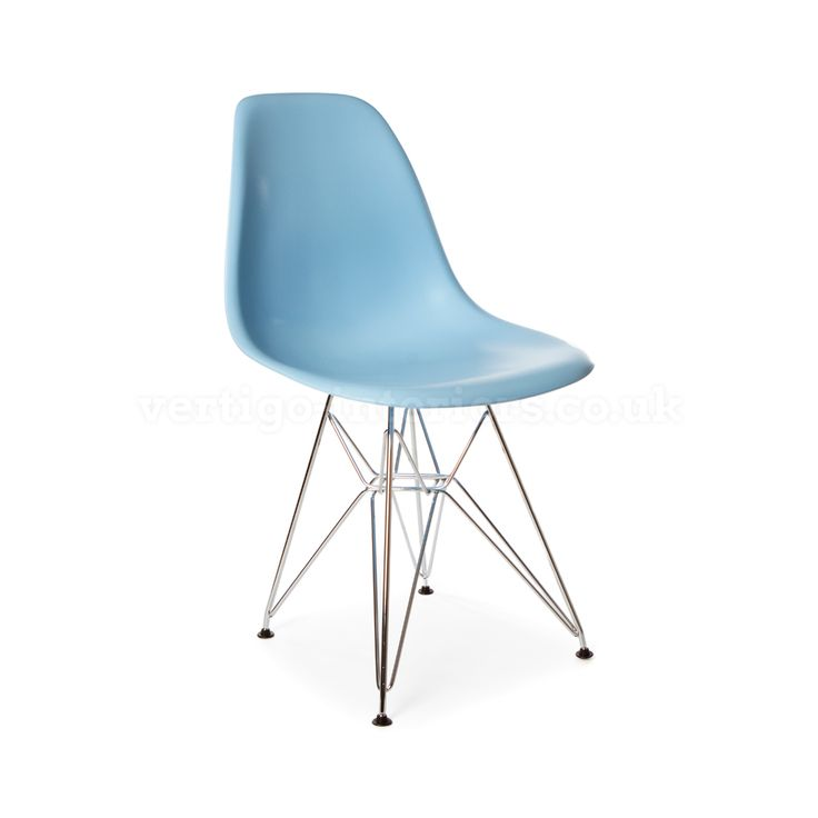 Products | Vertigo Interiors USA Blue DSR Dining Eiffel Side Chair    Inspired By Designs Of