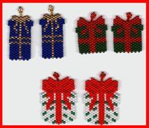Christmas Package Earrings Pattern at Sova-Enterprises.com