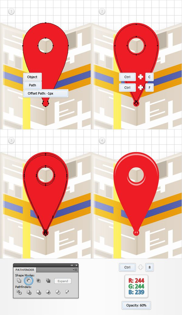 how to draw a map in illustrator
