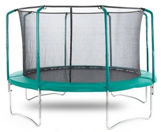 AeroBounce® 10ft Trampoline With Safety Enclosure & Ladder - £159