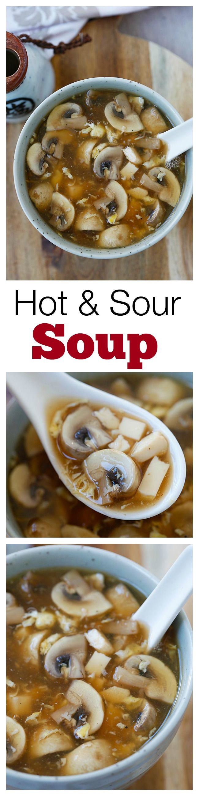 Hot and Sour Soup – Make with simple ingredients, takes 15 minutes to prepare / rasamalaysia.com