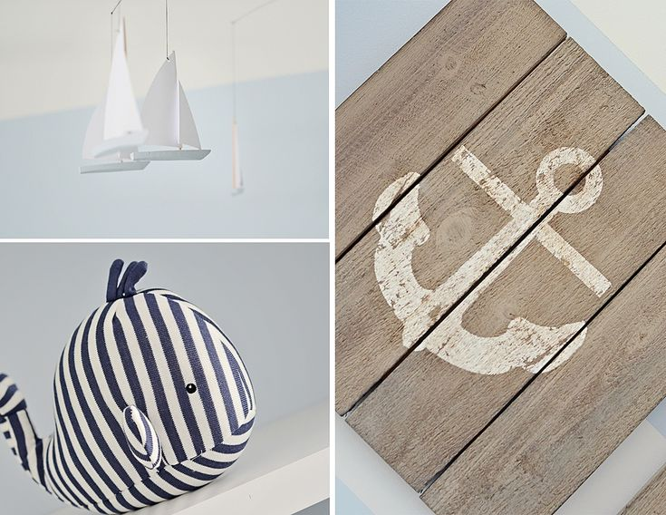 {Ideas for a Nautical Nursery} - We love this rustic wood-plank nautical wall art! #nursery #nauticalNautical Nursery, Baby Boys Nurseries, Projects Nurseries, Nautical Baby, Nautical Nurseries, Nurseries Design, Boys Room, Baby Boy Nurseries, Blue And White