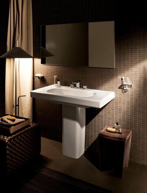 Pedestal Sink Bathroom Design Ideas Tiles In Our