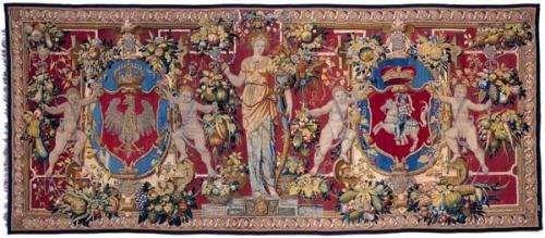 Arras z herbami Polski i Litwy oraz postacią Cerery, Bruksela, ok.1555 (500x219, 29Kb)
