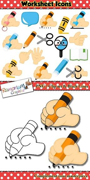 Worksheet Icons that are perfect visuals, cues and directions for children when reading worksheet or homework tasks.