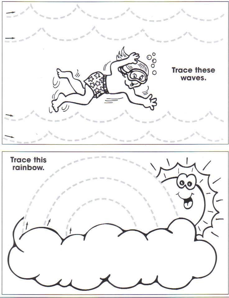 Tracing Practice - Ocean/Summer Theme