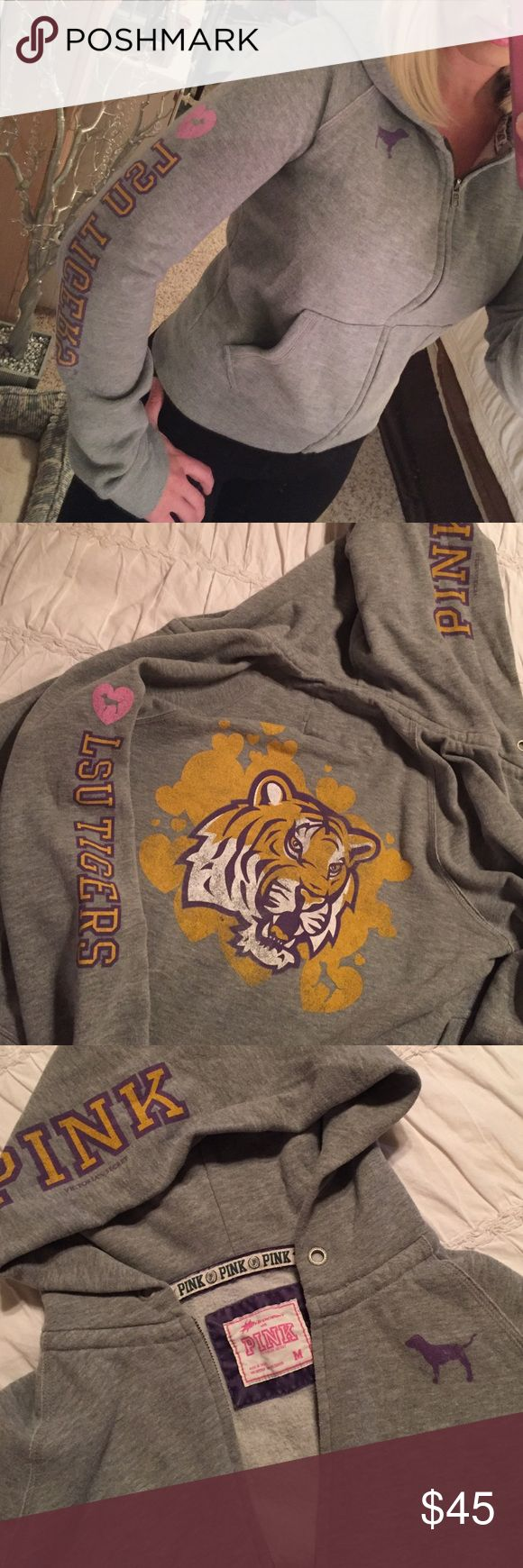 Victoria's Secret Pink LSU sweatshirt medium Rare LSU Victoria's Secret Pink sweatshirt. Medium. So comfortable. Smoke free pet free home. Bundle and save. PINK Victoria's Secret Jackets & Coats