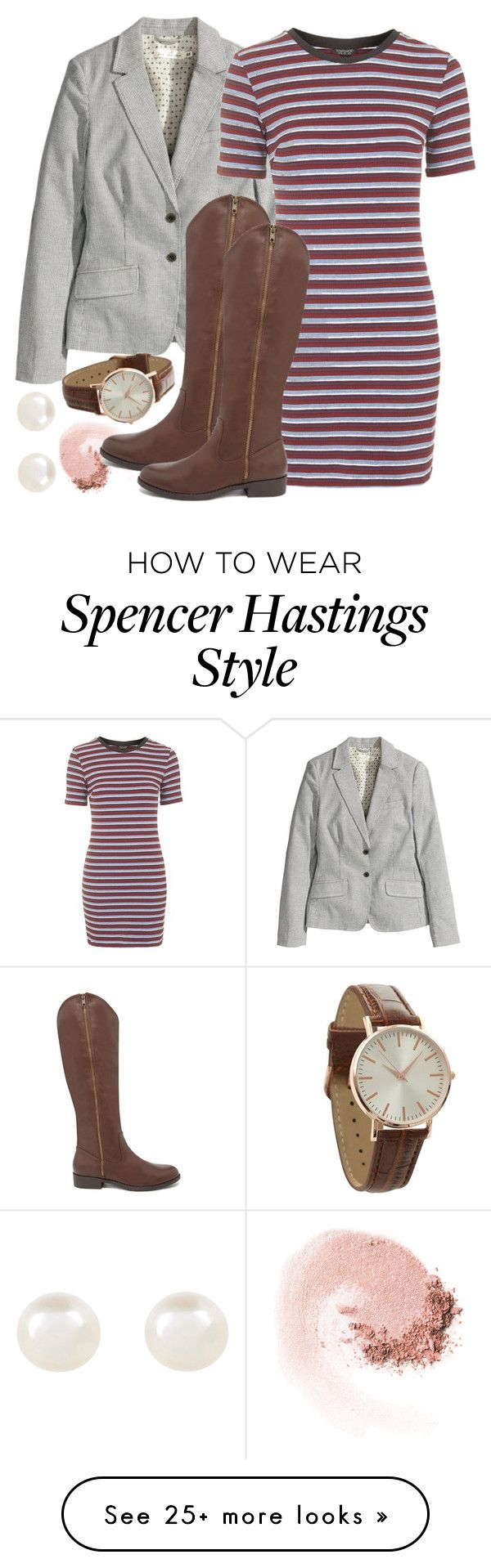 """""""Spencer Hastings inspired outfit"""" by liarsstyle on Polyvore featuring NARS Cosmetics, H&M, Topshop, Forever 21, Accessorize, school, college, old and mid"""