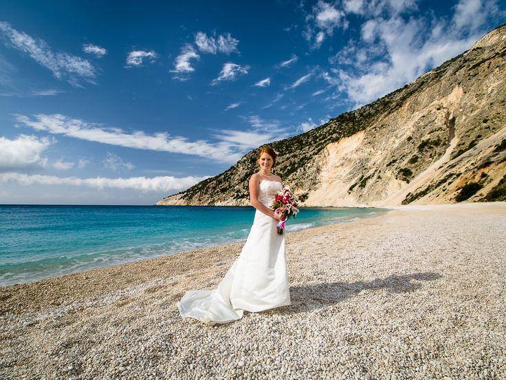 Lovely scenery  - Shiny bride  #beachwedding #weddingingreece #mythosweddings #kefalonia