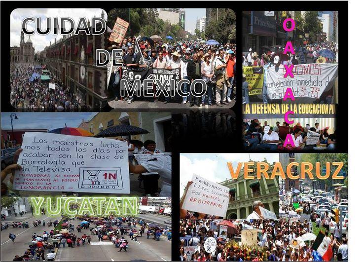Marchas en apoyo a la CNTE Y para rechazar las ya 3 leyes aprobadas por el legislativo que regulan la reforma educativa