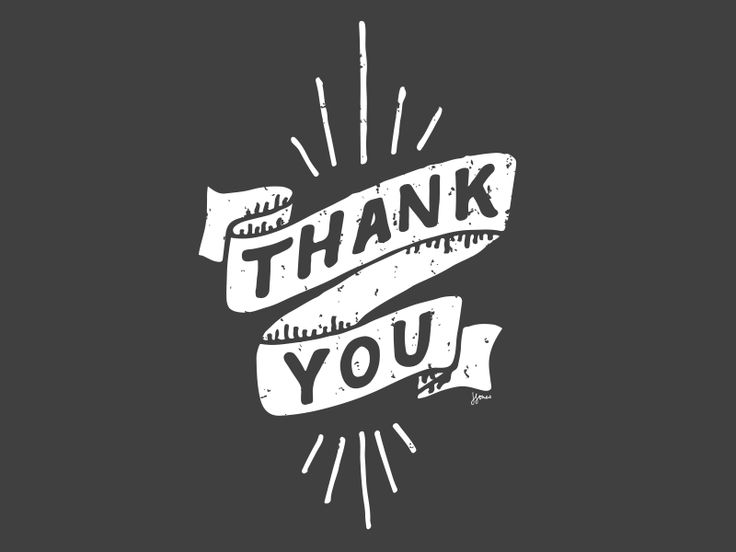 Thank You Hand Lettered Illustration