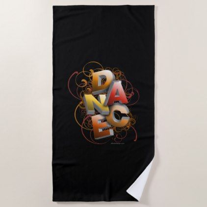 3D Dance (Fall) Beach Towel - home gifts ideas decor special unique custom individual customized individualized