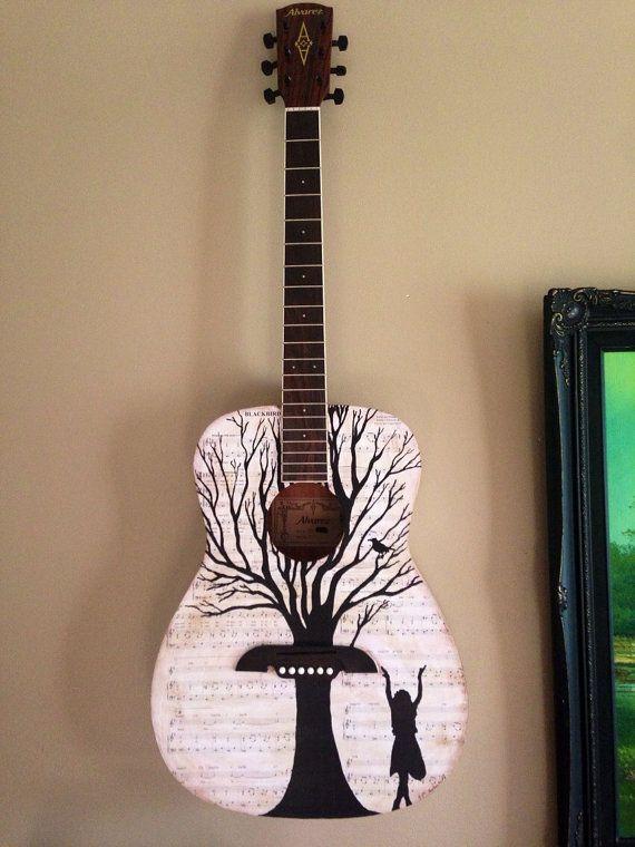 Blackbird by the Beatles sheet music guitar by MusicAsArtBySarah