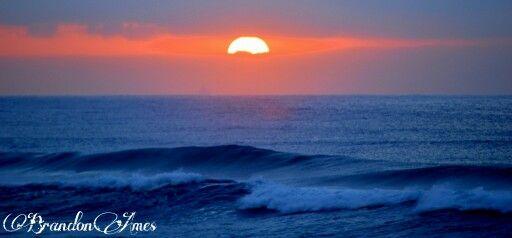 Sunrise beach ocean