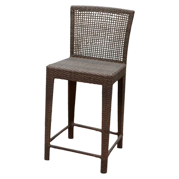 Pacific Wicker Patio Bar Stool - Multi-Brown - Christopher Knight Home, Brown