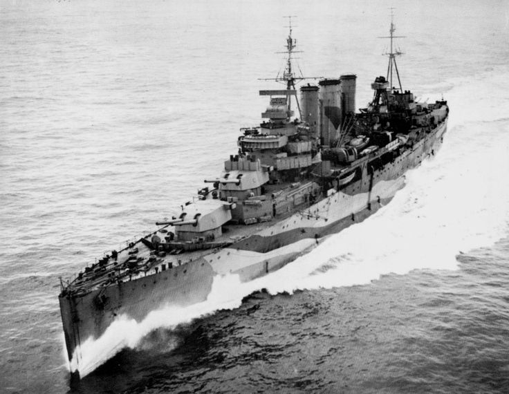 HMS Kent (54) was a County-class heavy cruiser of the British Royal Navy in the late 1920's. She was the lead ship of the Kent sub-class.