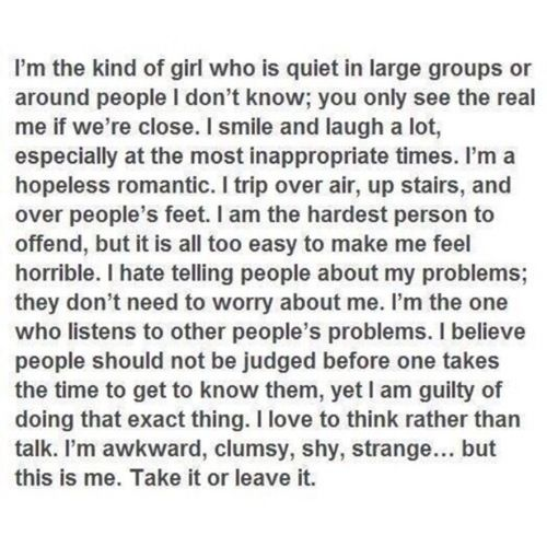 This is me. The me I will always be.