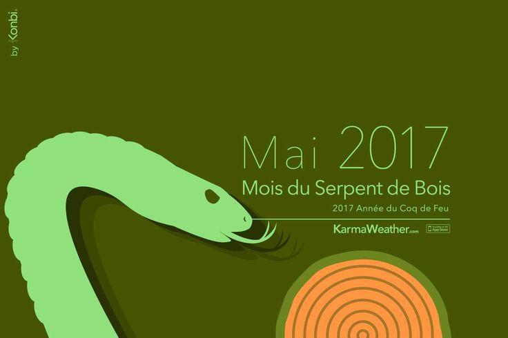 Horoscope chinois du jour du mois de mai 2017 - Prédictions gratuites du Mois du Serpent 2017