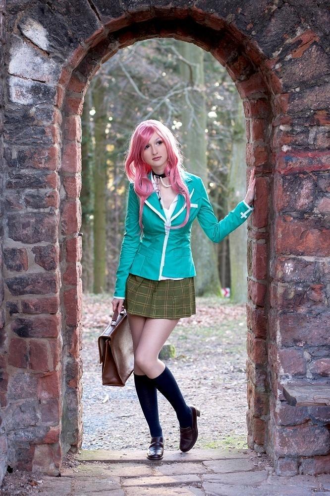 Moka Akashiya - Rosario+Vampire cosplay by Blackbutterfly #Rosario+Vampire #cosplay