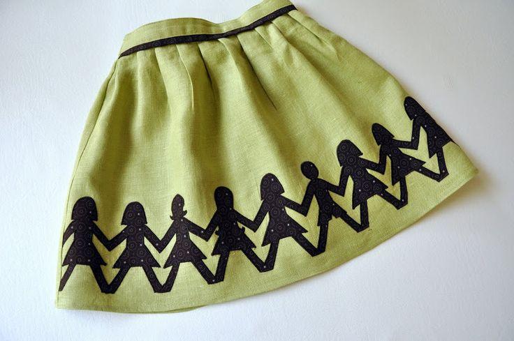 no big dill: Paperdoll Skirt Tutorial - adult-size mine, plz! cute skirt, interesting tutorial format & great pleats!