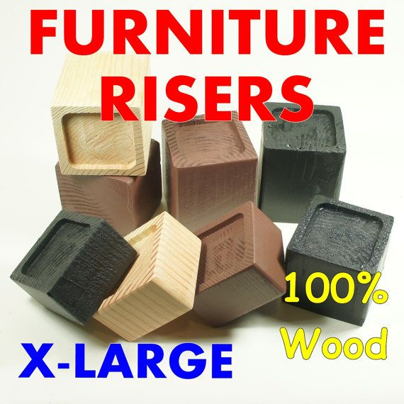 X LARGE Wood Furniture Riser, Bed Sofa Chair Desk Lifter, Custom Sizes,