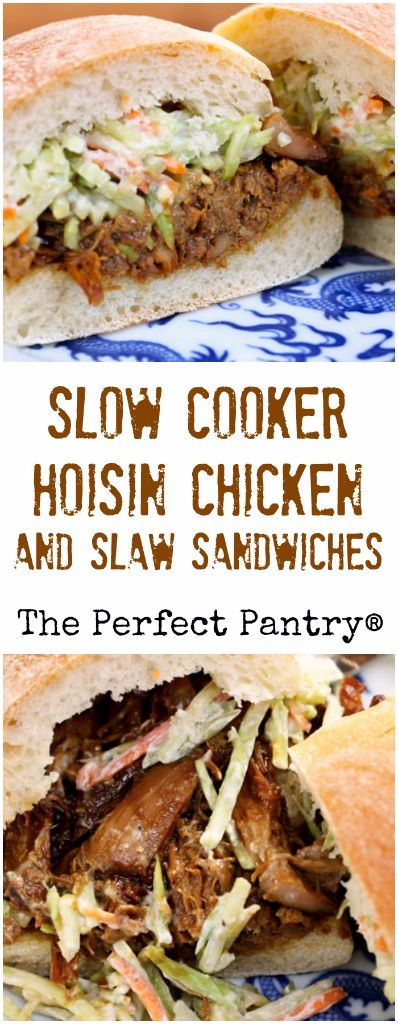 ... slow cooker hoisin shredded chicken sandwich with asian slaw recipes