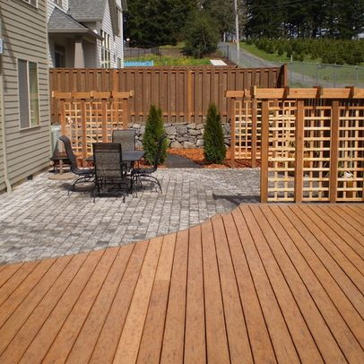 mixed material patio design ideas pictures remodel and decor page 3 - Patio Material Ideas