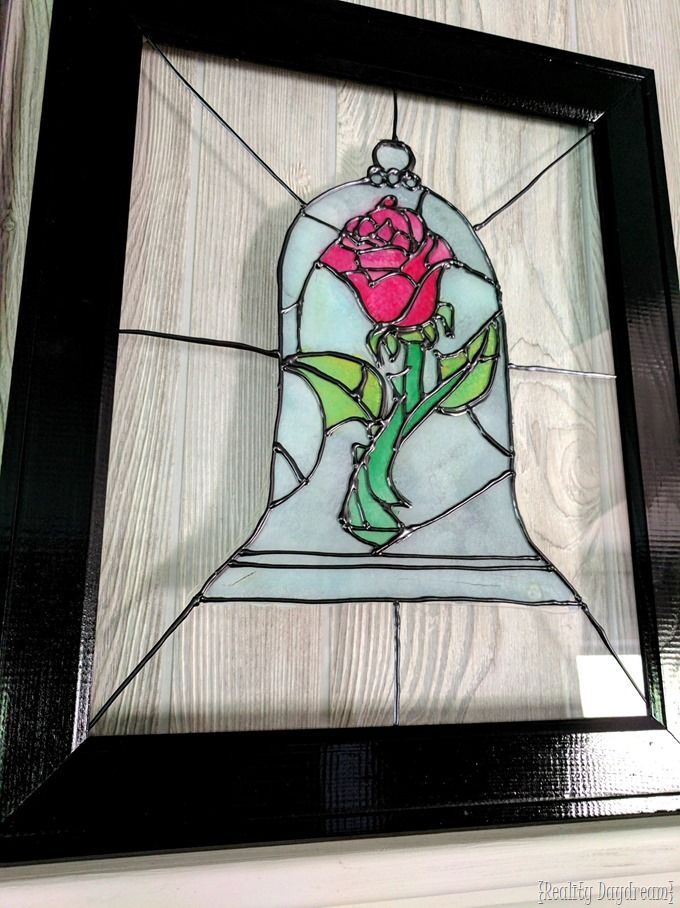 This is such a FUN tutorial for making what looks like very REAL stained glass! Learn how to do the Beauty and the Beast Rose, and more! {Reality Daydream}