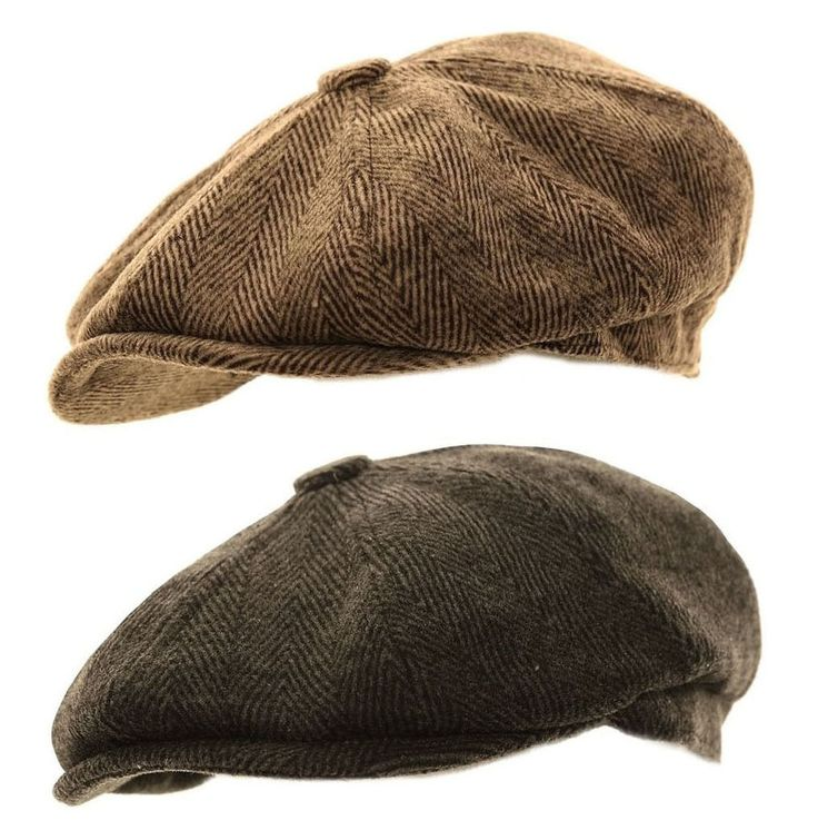 Mens Herringbone Baker Boy Caps Newsboy Hat Country Style