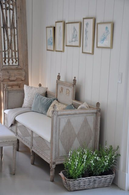 Swedish Gustavian style sofa  Grey  beige   off whtie frame. 277 best Gustavian style images on Pinterest   Painted furniture