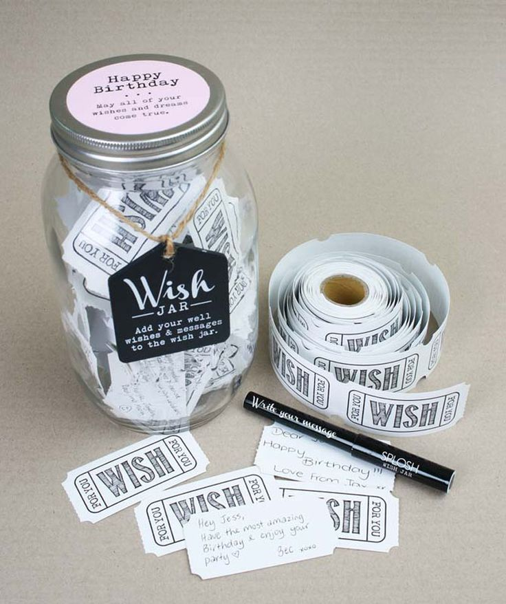 """Keepsakes that are truly special. These wish jars are designed to collect heartfelt notes, loving messages, and warm wishes from friends and family at your little one's birthday party."""