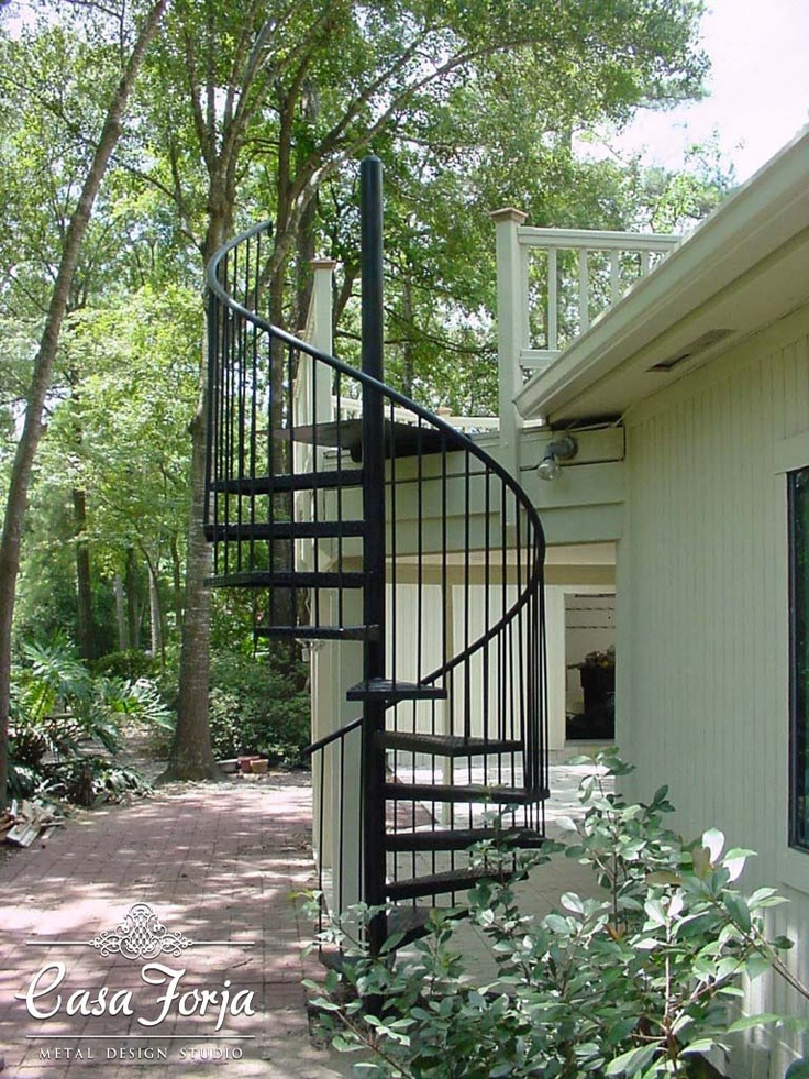 Custom Outdoor Spiral Stairs 2 Wrought Iron Pinterest
