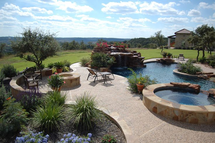 Landscaping ideas for front yard landscaping ideas for for Pool in front yard ideas