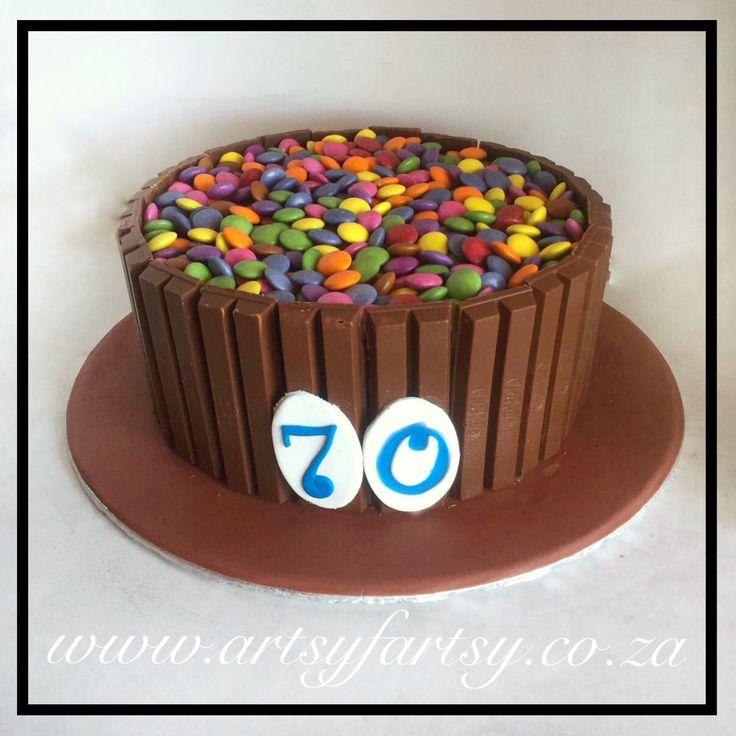 KitKat and Smarties Cake #kitkatcake #smartiescake