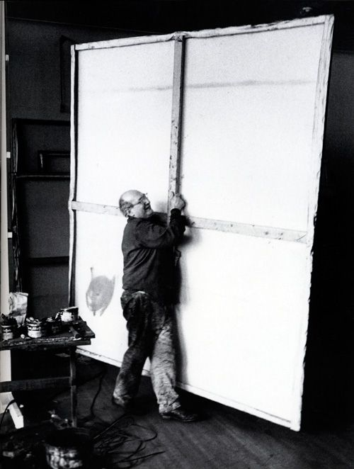 Mark Rothko, 1964...note stretcher...kind to be made on stage