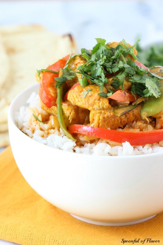Coconut Chicken Curry - creamy coconut, chicken and fresh veggies create this quick and easy meal!